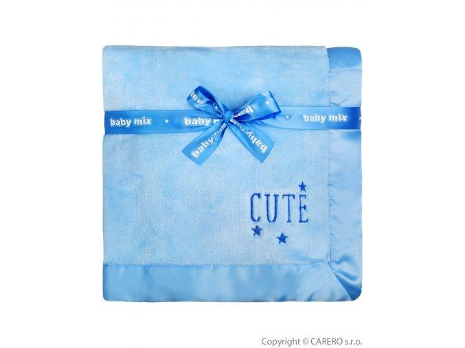 Dětská plyšová deka Baby Mix Cute modrá
