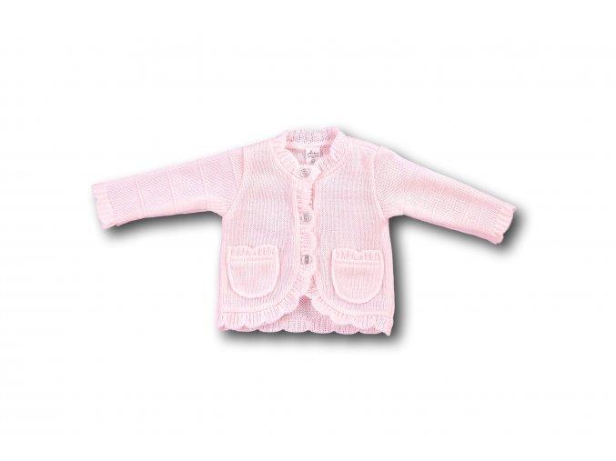 Růžový svetřík (Velikost 86)