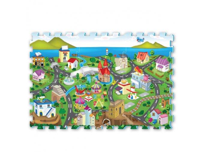 Pěnové puzzle - silnice