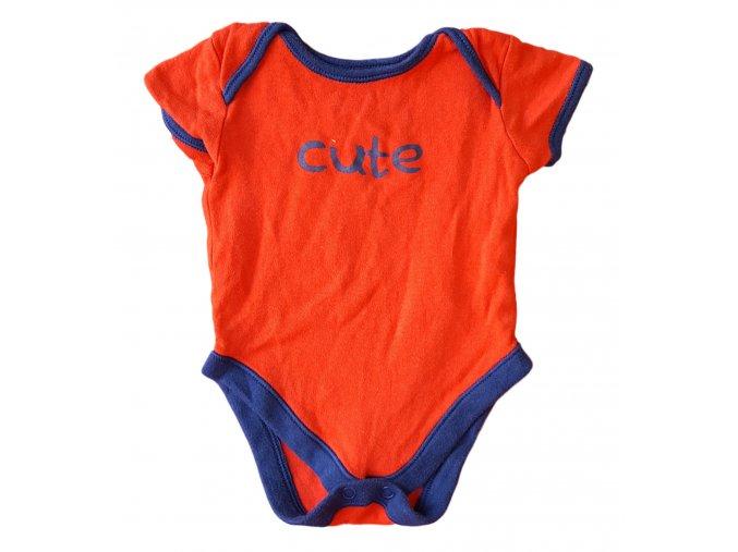 Body červené s nápisem - modrý lem, George, vel. First size