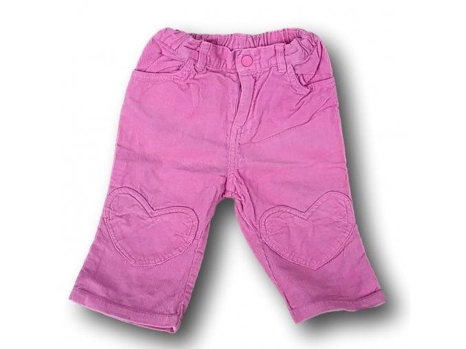 Džíny růžové, H&M, vel. 74