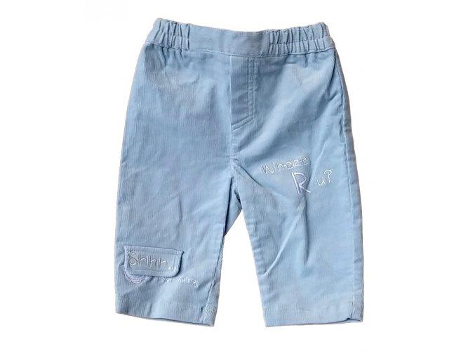 Kalhoty světle modré, vel. 68