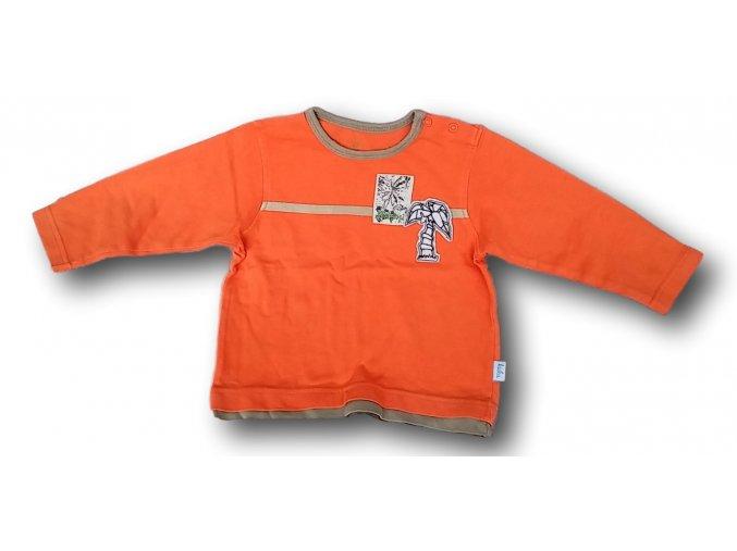 Tričko oranžové s palmou, Kuku, vel. 80