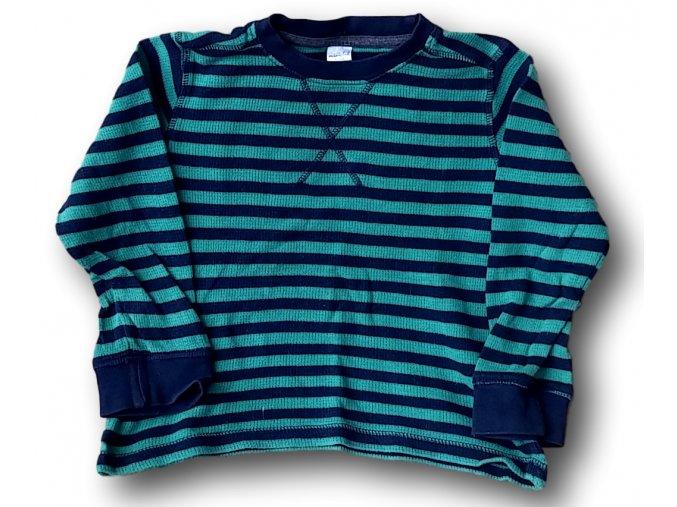 Tričko se zelenomodrými pruhy, Miniclub, vel. 98