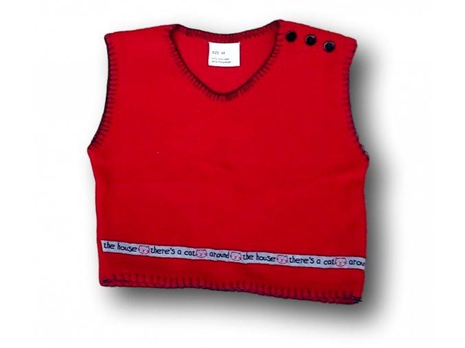 Vestička červená, vel. 68