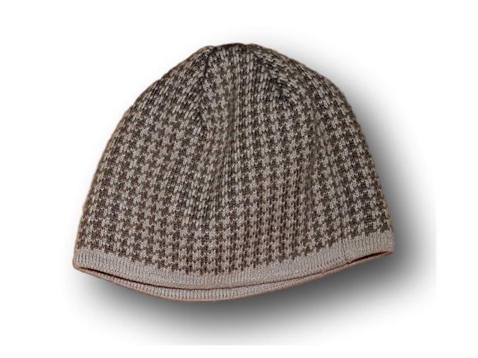 Čepice šedomodrá