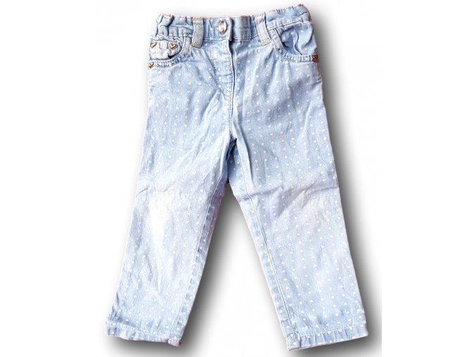 Světlé džíny s puntíky, TU, vel. 80