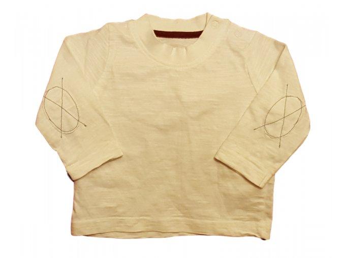 Tričko bílé s dlouhým rukávem