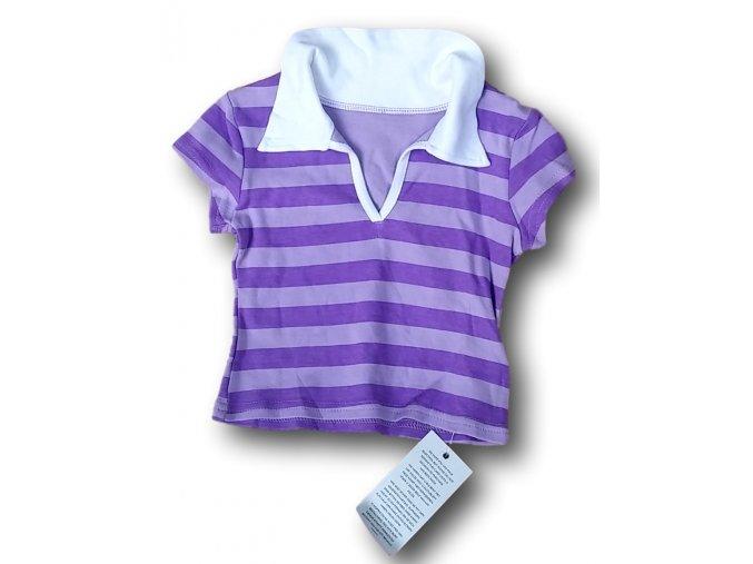 Tričko s fialovými proužky, For Girls, vel. 104