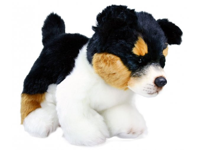 Plyšový pes mládě stojící