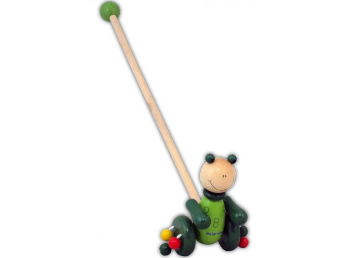 Dřevěná jezdící hračka Baby Mix žába