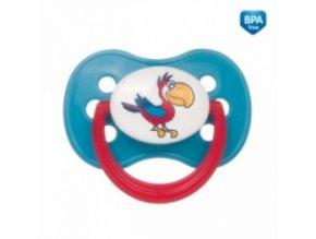 Dudlík Kulatý 6-18m Canpol Babies - Animals Papoušek