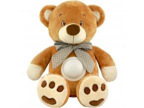 Plyšový medvídek s projektorem Baby Mix hnědý