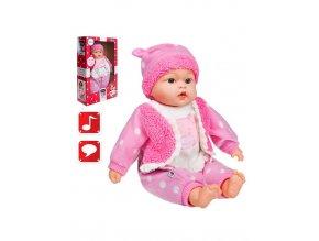 Česky mluvící a zpívající dětská panenka PlayTo Anička 46 cm