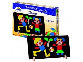 Puzzle magnetické - Klauni