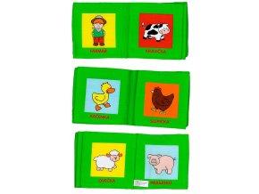 Kniha plyšová Baby farma, zvířátka, zelená