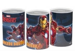 24626 MARVEL AVENGERS Spardose Metall 10cm Captain America Hulk Iron Man Thor 26296