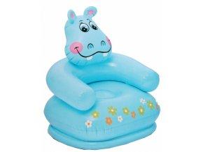 intex opblaasbare stoel nijlpaard blauw 65 x 64 x 74 cm 161171
