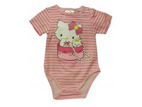 Body s krátkým rukávem Charmy Kitty růžové (Velikost 23 měsíců/86 cm)