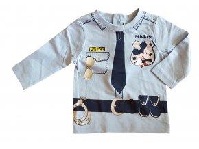 Tričko Mickey Mouse policajt modré (Velikost 23 měsíců/86 cm)