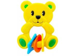 Chrastítko medvídek žlutý