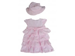 Růžové šaty s volánky (Velikost 86)