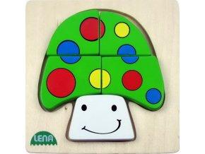 Dřevěné puzzle - houba