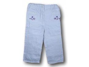 Kalhoty bílé s kytičkami, C&A, vel. 92