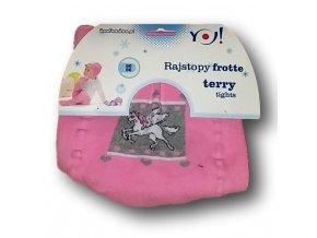 Punčocháčky froté růžové - pegas