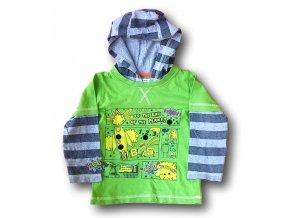 Tričko zelené s kapucí, Marks & Spencer, vel. 92