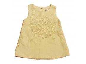 Béžové vyšívané šaty, vel. 62