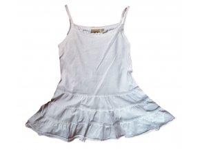 Bílé šaty na ramínka