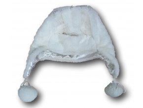 Čepice bílá - velur, Clayres