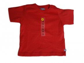 Červené triko s krátkým rukávem
