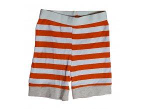 Kalhoty kojenecké s oranžovým proužkem