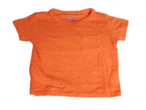 Oranžové tričko Next, velikost 68