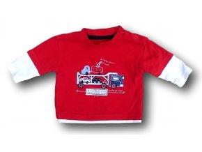 Tričko červené s hasiči, George, vel. Tinybaby