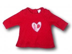 Tričko červené s vyraženými srdíčky, Next, vel. 56