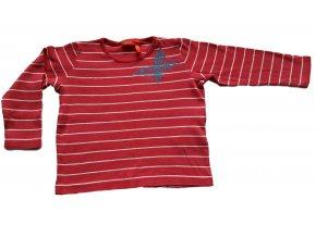 Triko červené s pruhy, Esprit, vel. 98