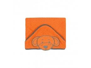 Luxusní osuška Baby Ono - HAPPY s kapucí oranžová