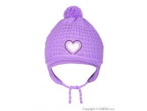 Dětská zimní čepička Linda fialová