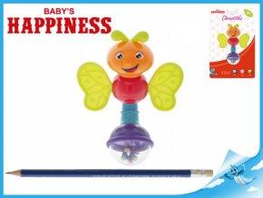 Chrastítko brouček 13cm Baby's Happiness