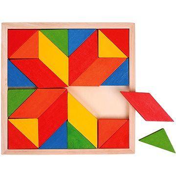 Dřevěný hlavolam - Hra - Dřevěná mozaika Bigjigs