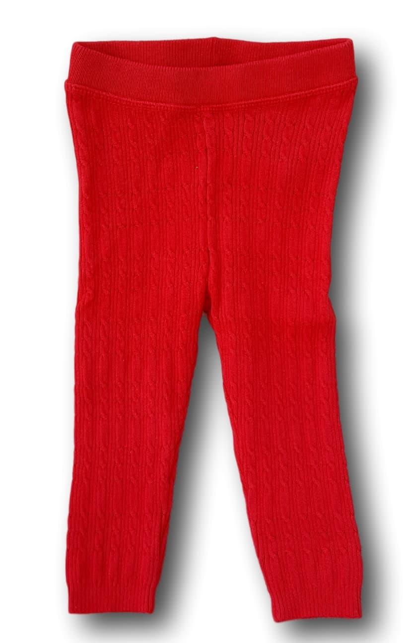 Červené pletené legíny, George, vel. 80