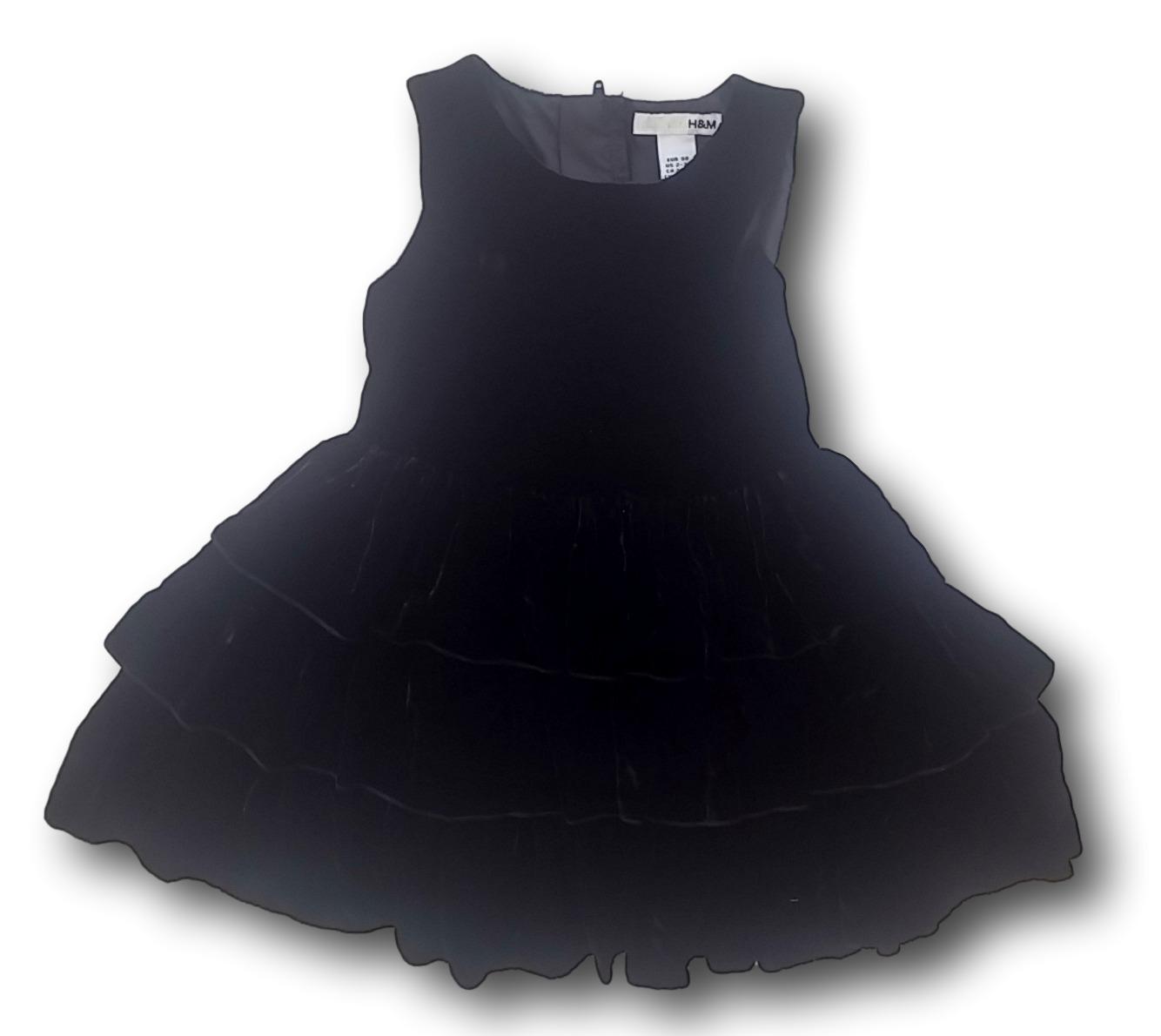 Šaty společenské černé sametové, H&M, vel. 98