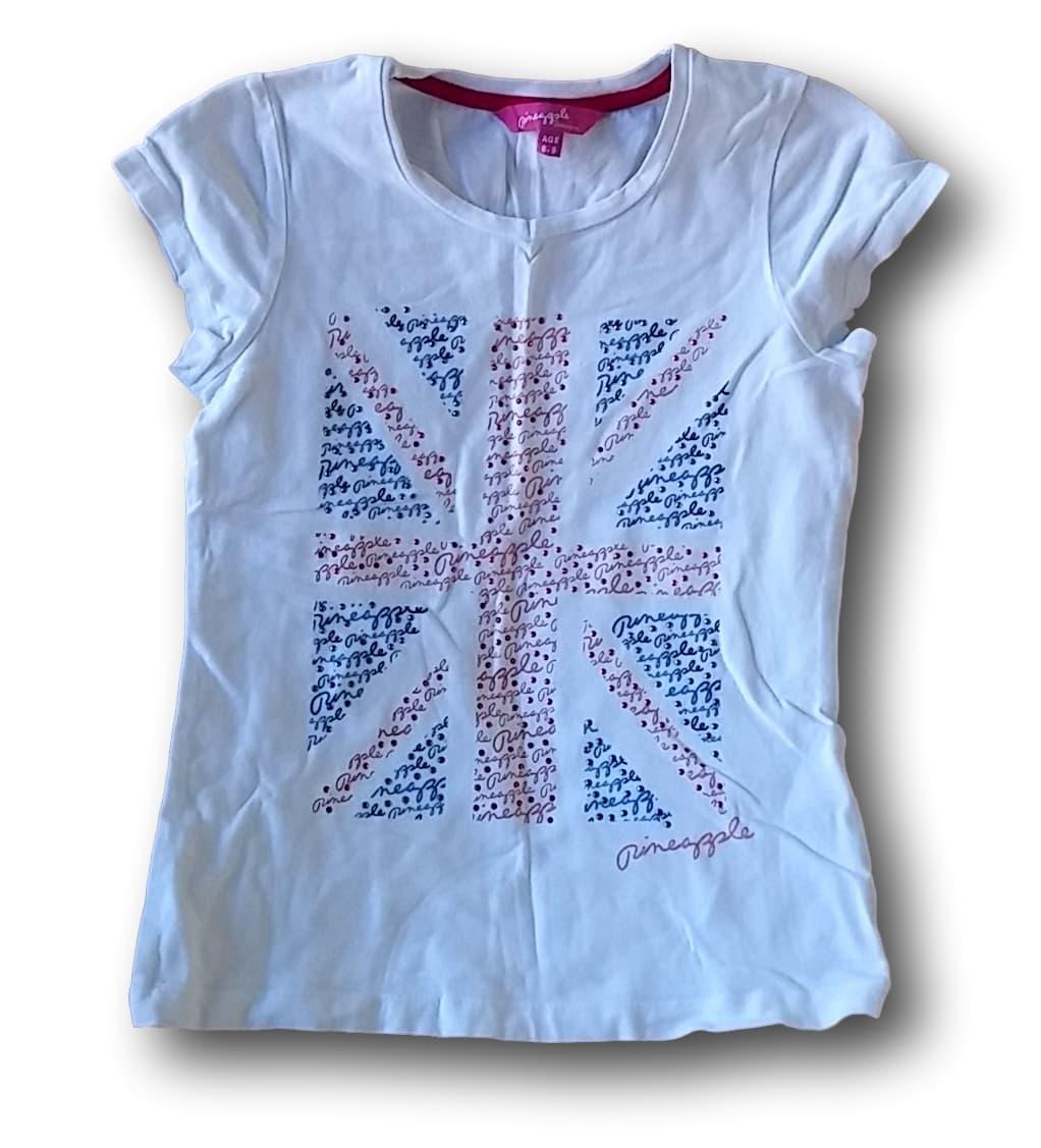 Tričko bílé s vlajkou, Debbie Mo Ore, vel. 134