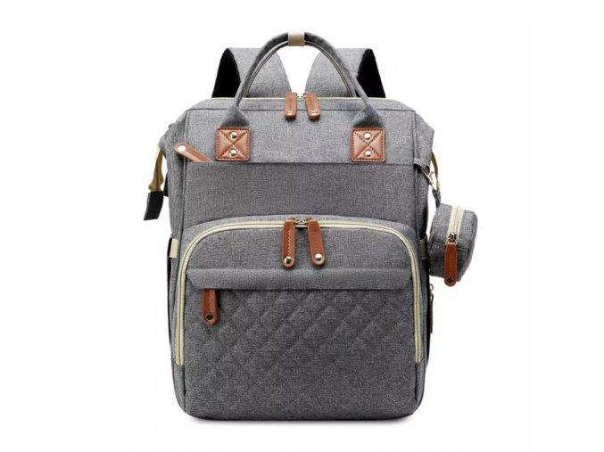 Přebalovací batoh Quilted Grey