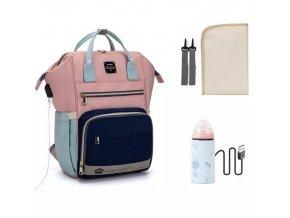 Přebalovací batoh Pink Blue Powder
