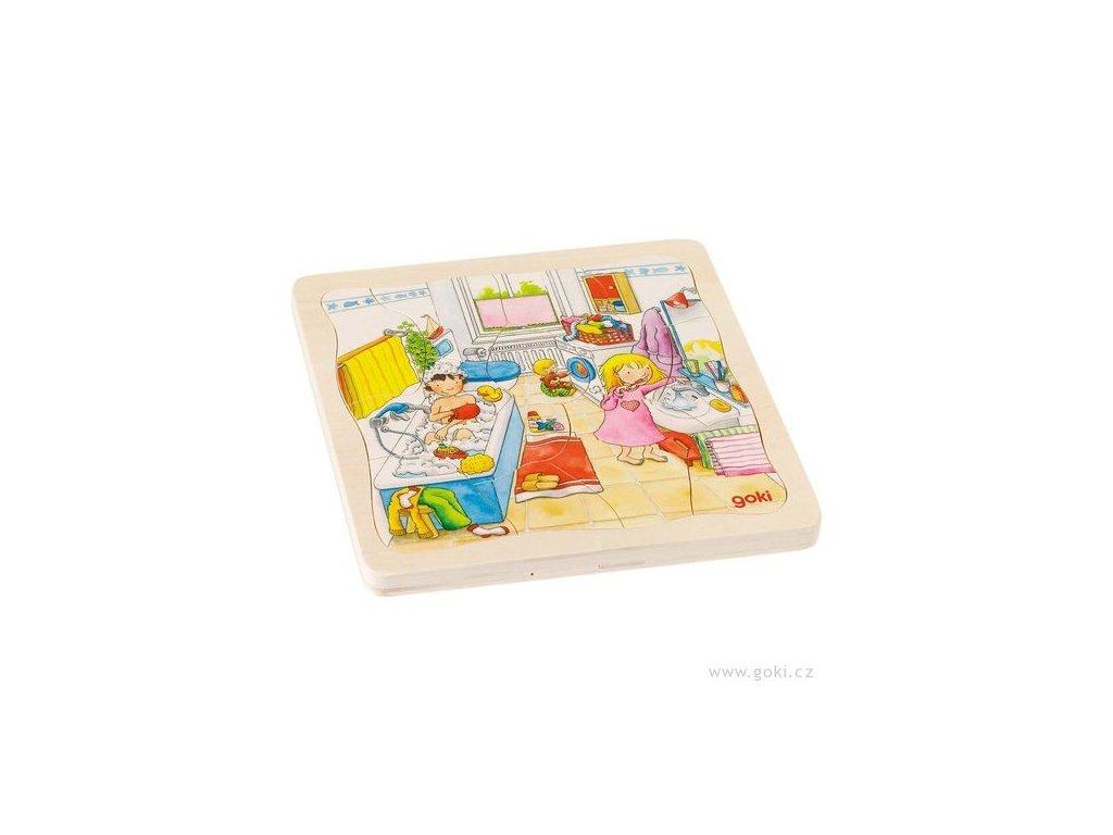 Vícevrstvé puzzle - Můj den (46 dílů)