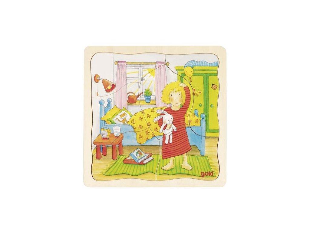 Vícevrstvé puzzle - Můj den (20 dílů)